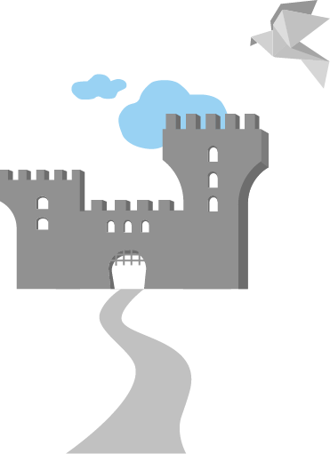 castle with bird